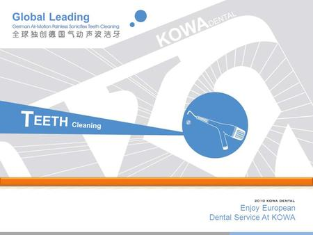 Enjoy European Dental Service At KOWA Global Leading.