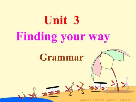 Unit 3 Grammar Finding your way. along across over through.