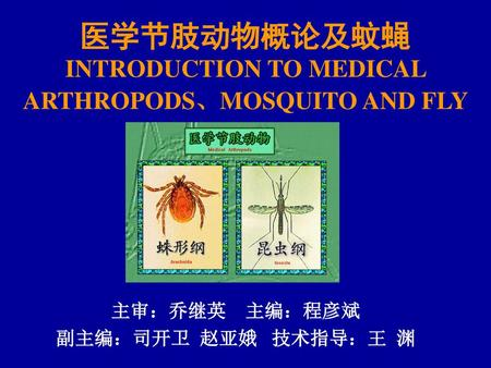 医学节肢动物概论及蚊蝇 INTRODUCTION TO MEDICAL ARTHROPODS、MOSQUITO AND FLY