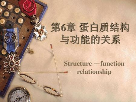 Structure -function relationship