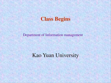 Department of Information management