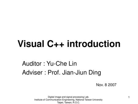 Visual C++ introduction