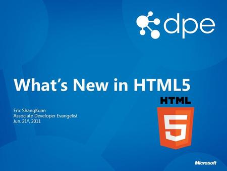 What's New in HTML5.