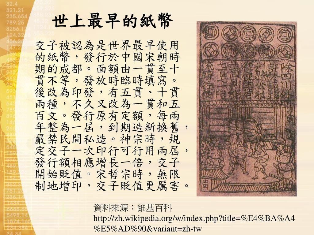 世上最早的紙幣