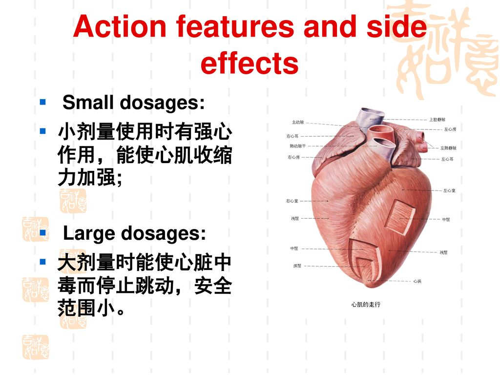 Action features and side effects