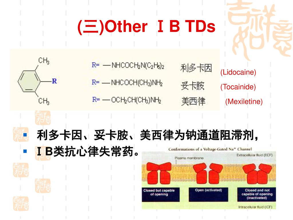 【Usages】 普鲁卡因胺为钠通道阻滞剂,属ⅠA类抗心律失常药。常与奎尼丁交替使用。