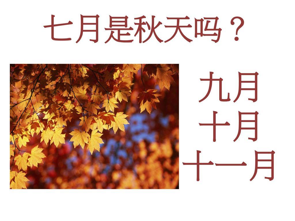 七月是秋天吗? 九月 十月 十一月