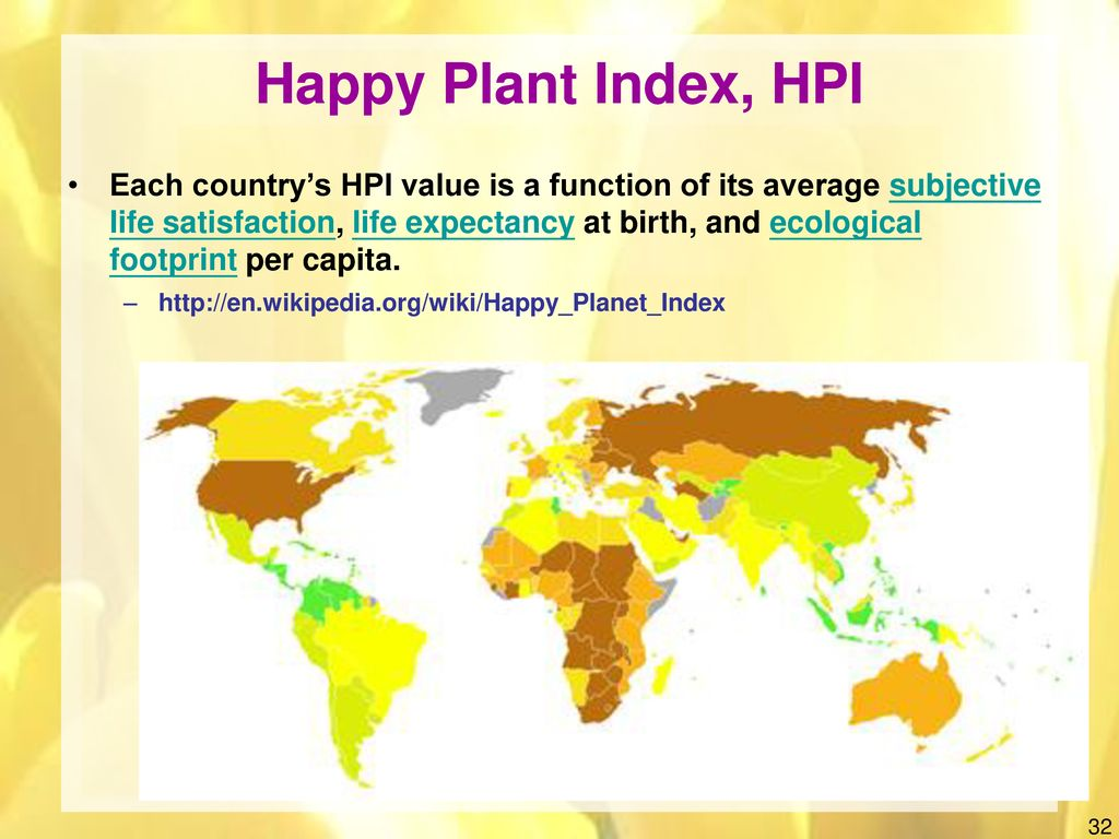 Happy Plant Index, HPI