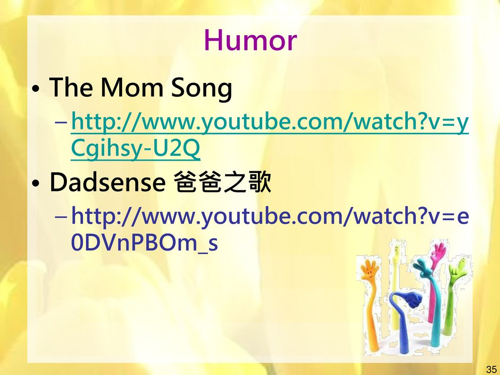 Humor The Mom Song Dadsense 爸爸之歌