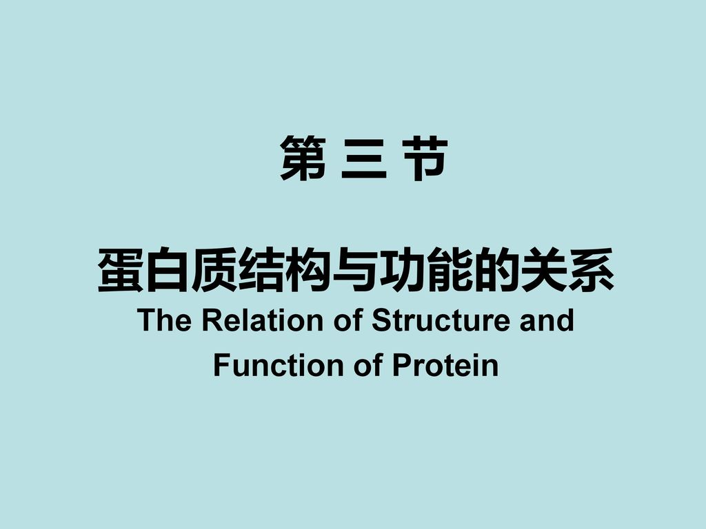 The Relation of Structure and