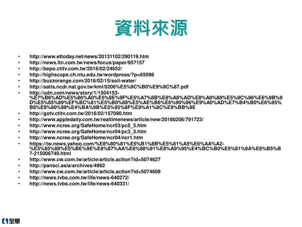 資料來源 http://www.ettoday.net/news/20131102/290119.htm