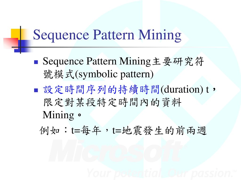 Sequence Pattern Mining