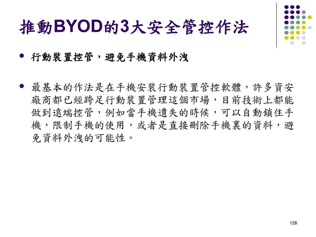 推動BYOD的3大安全管控作法 行動裝置控管,避免手機資料外洩