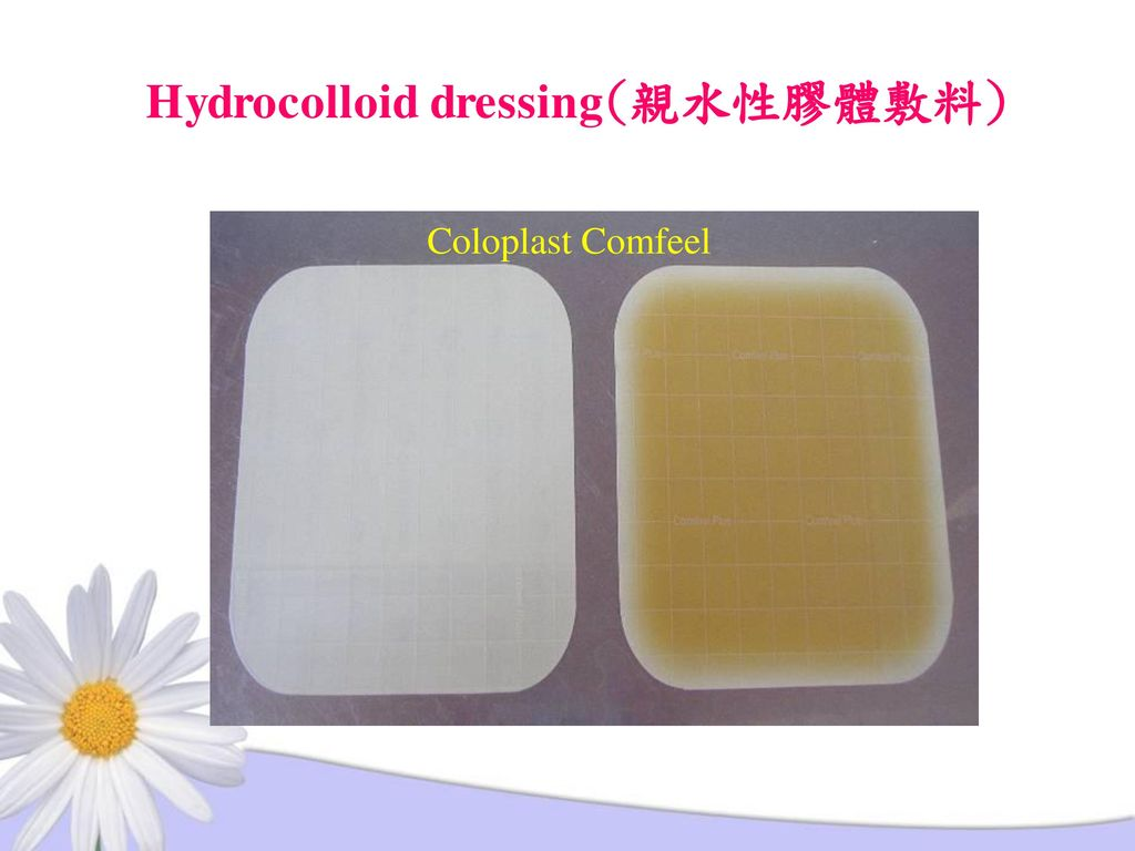 Hydrocolloid dressing(親水性膠體敷料)