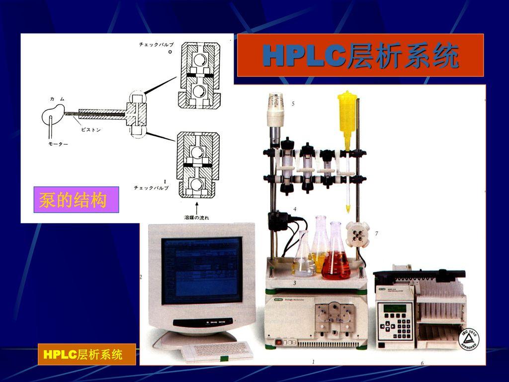 HPLC层析系统 泵的结构 HPLC层析系统