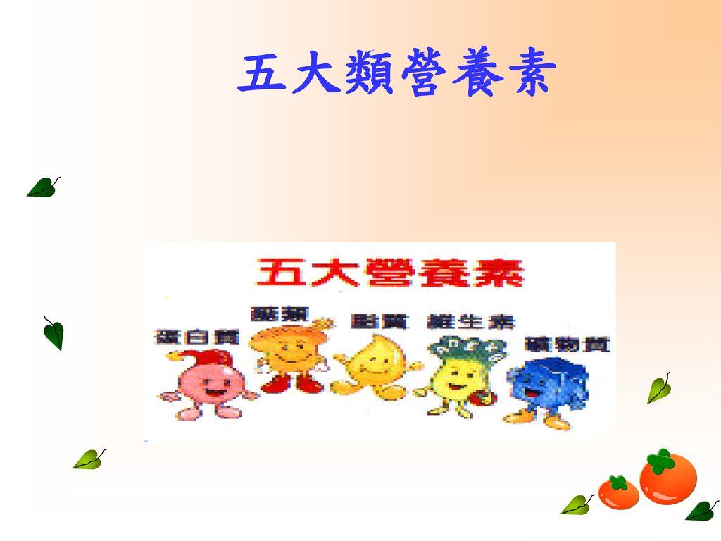 五大類營養素
