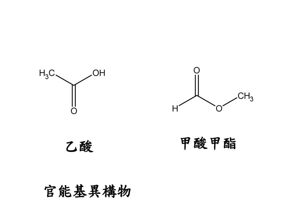 甲酸甲酯 乙酸 官能基異構物