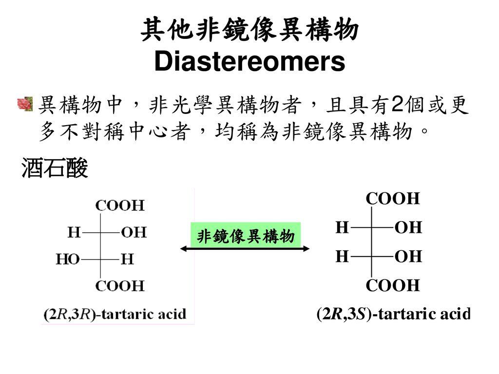 其他非鏡像異構物 Diastereomers