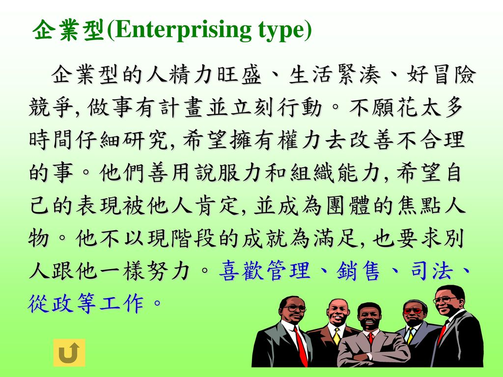 企業型(Enterprising type)