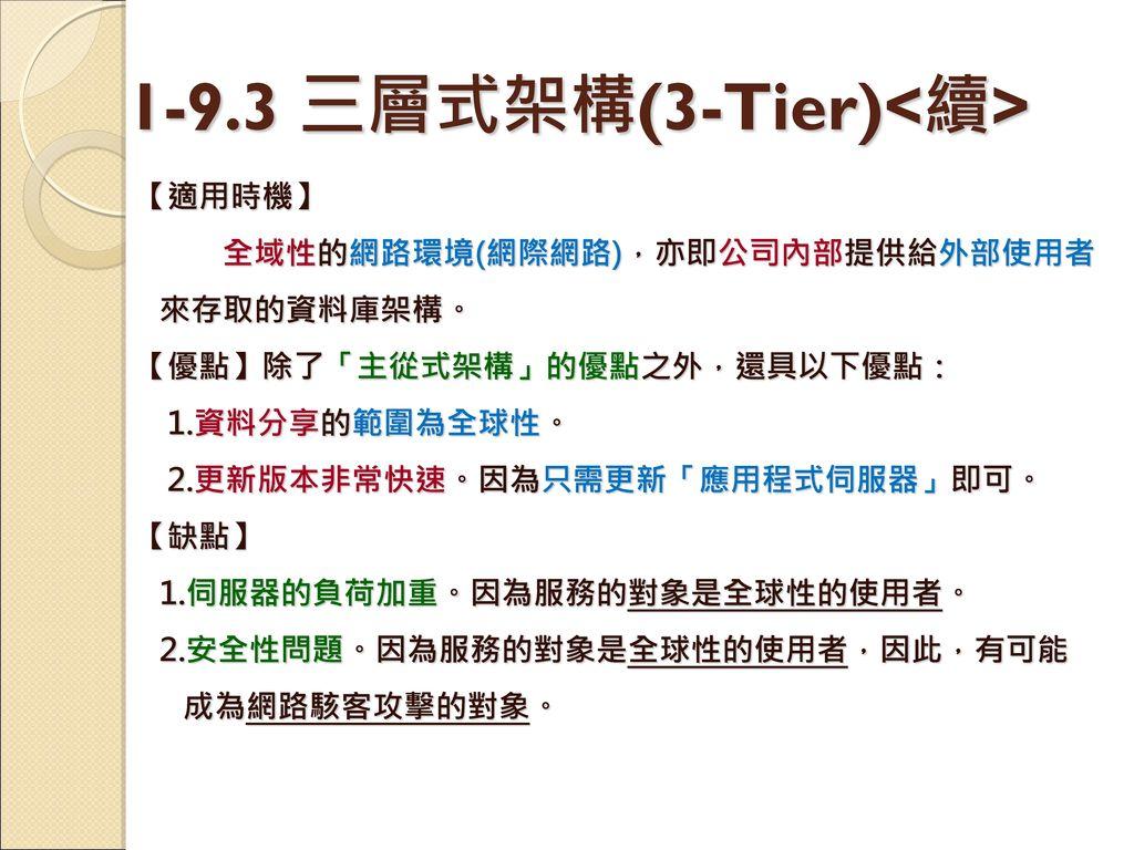 1-9.3 三層式架構(3-Tier)<續>