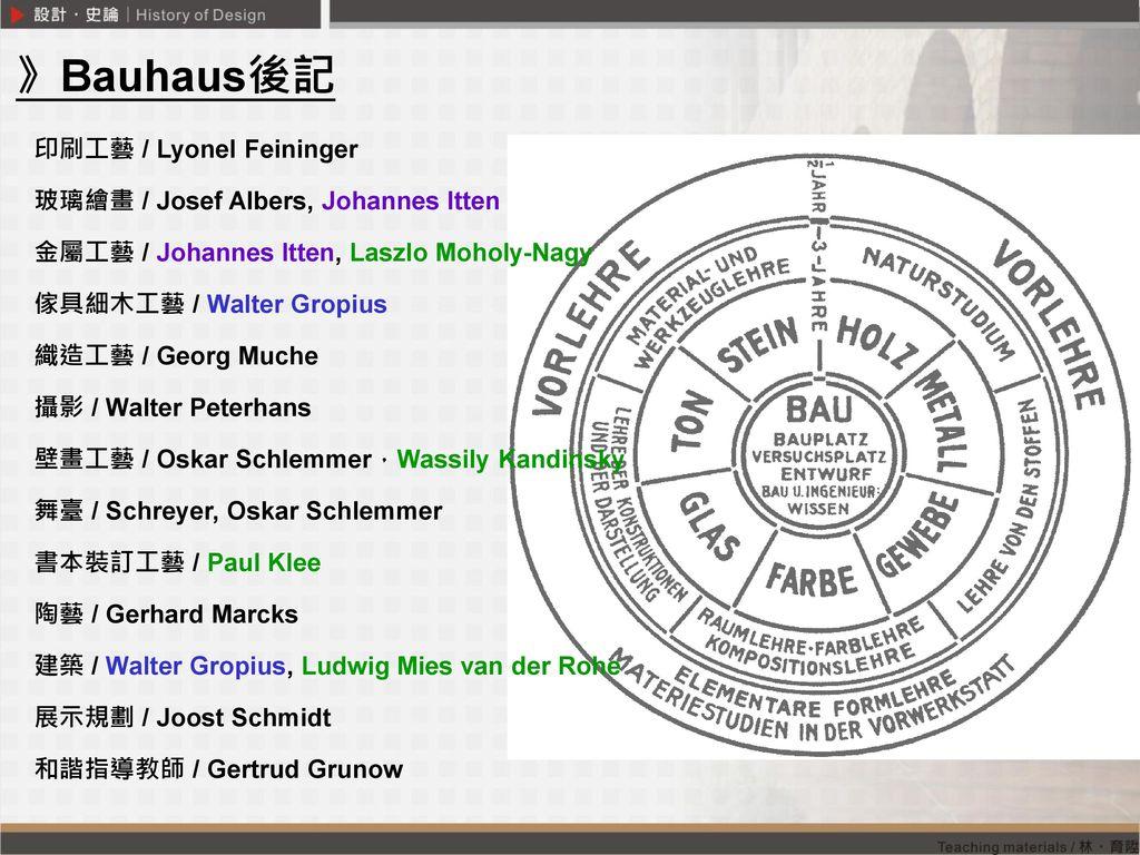 》Bauhaus後記 印刷工藝 / Lyonel Feininger 玻璃繪畫 / Josef Albers, Johannes Itten