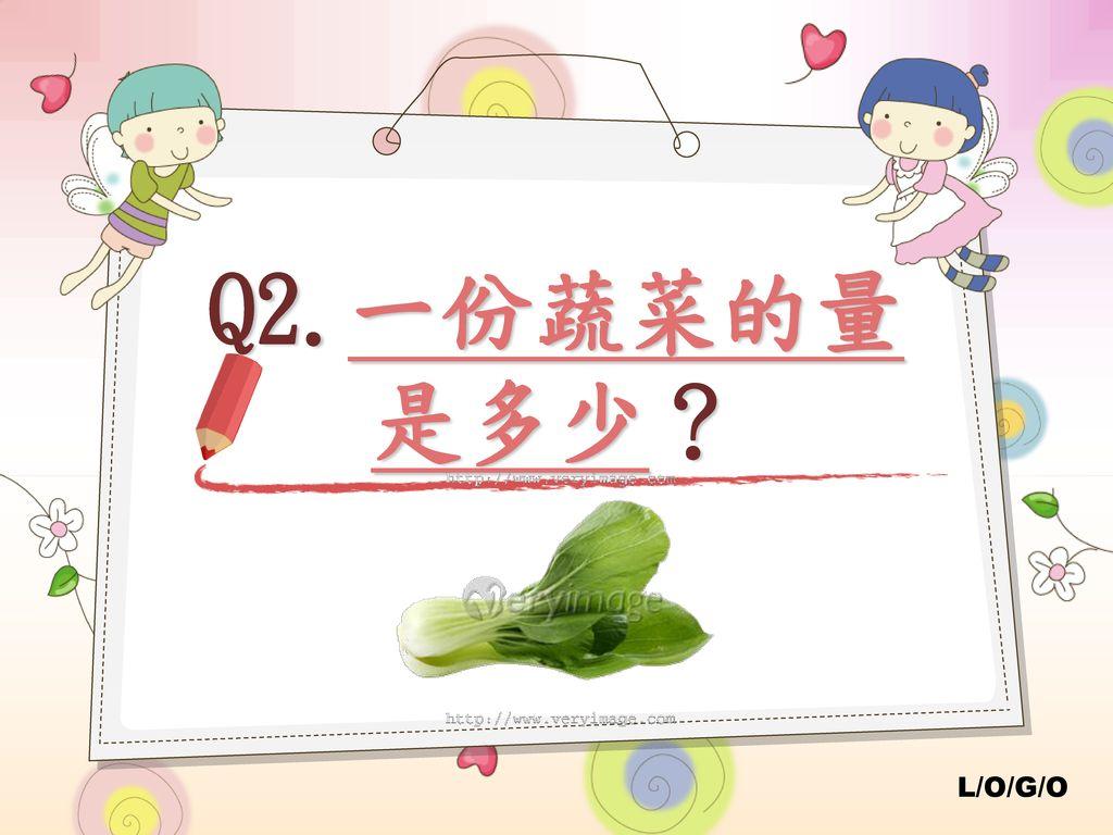 Q2.一份蔬菜的量 是多少?