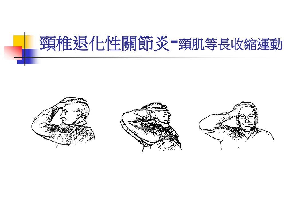 頸椎退化性關節炎-頸肌等長收縮運動