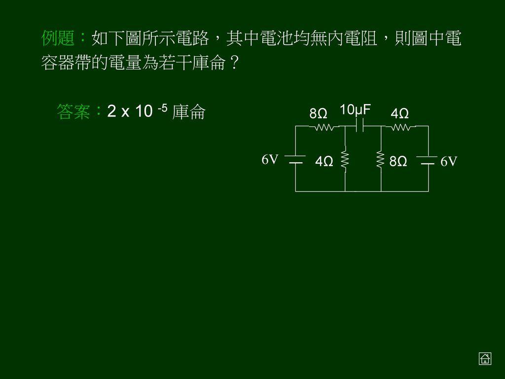 例題:如右圖所示的電路圖,試求 a,b 間的等效電阻