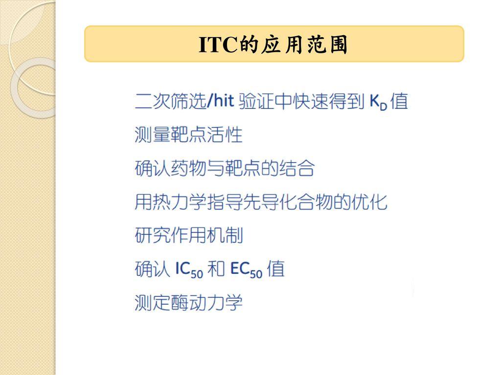 ITC的应用范围