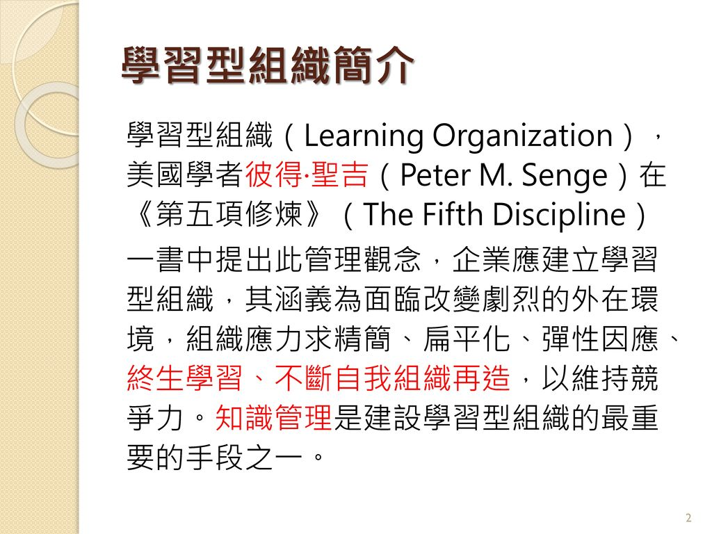 學習型組織簡介