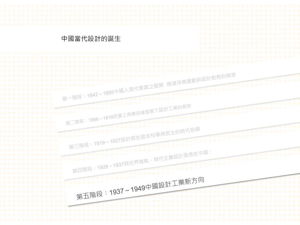 中國當代設計的誕生 第五階段︰1937~1949中國設計工業新方向