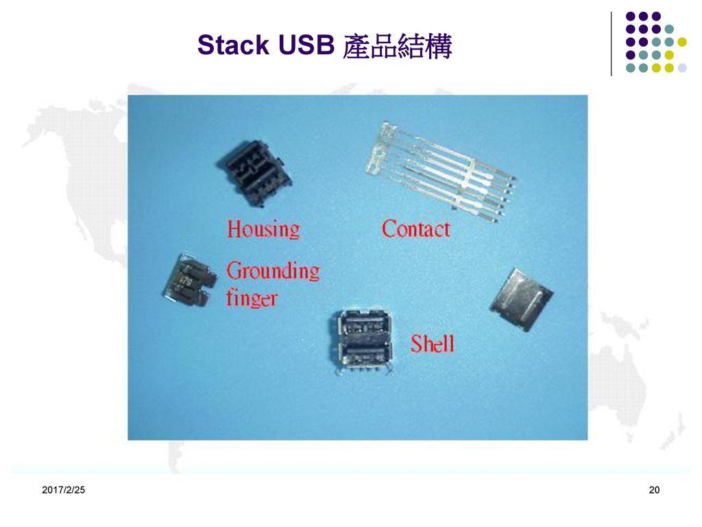 Stack USB 產品結構 2017/2/25