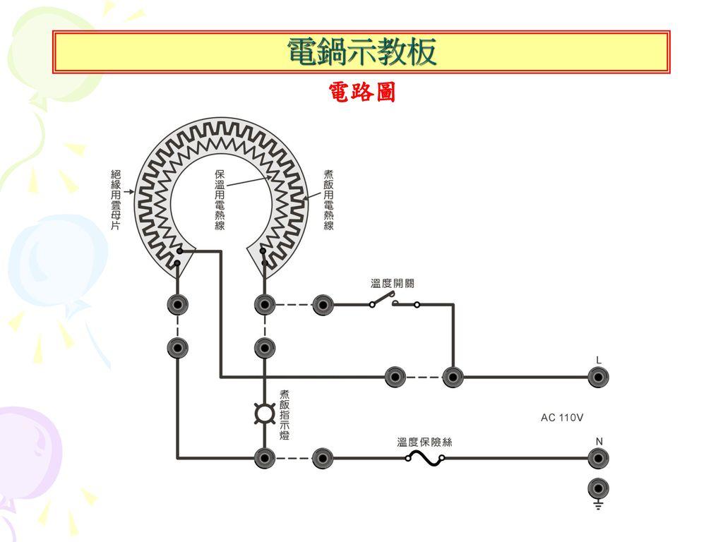 電鍋示教板 電路圖