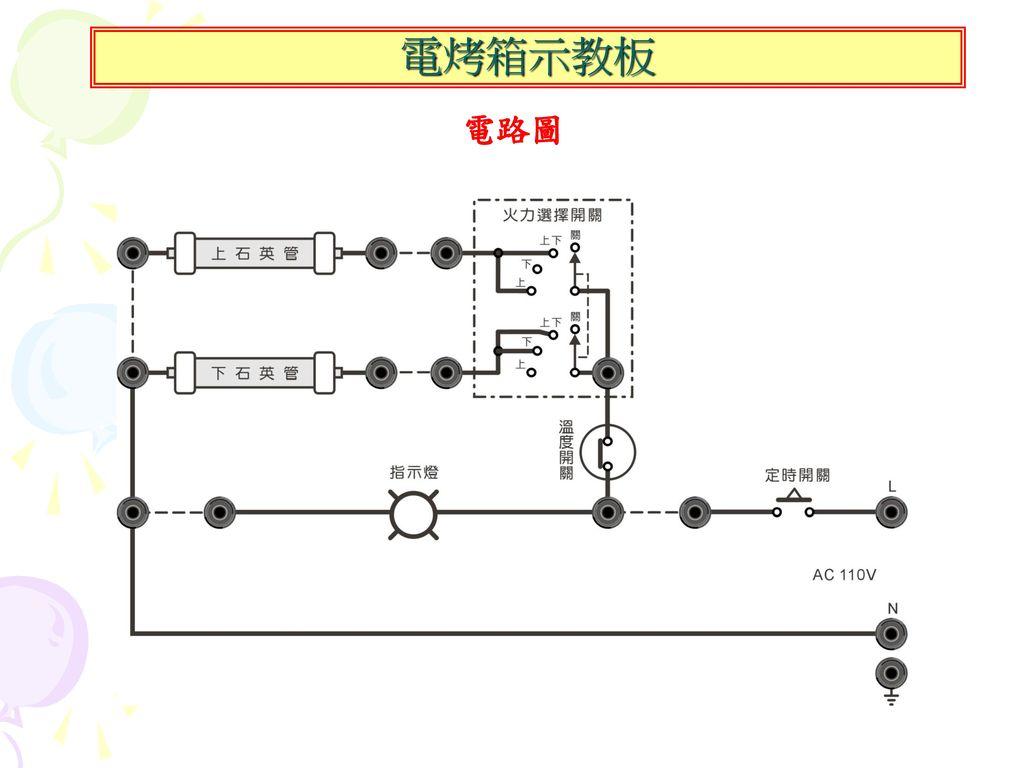 電烤箱示教板 電路圖