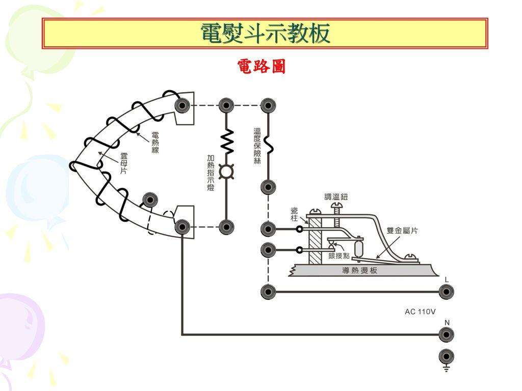 電熨斗示教板 電路圖