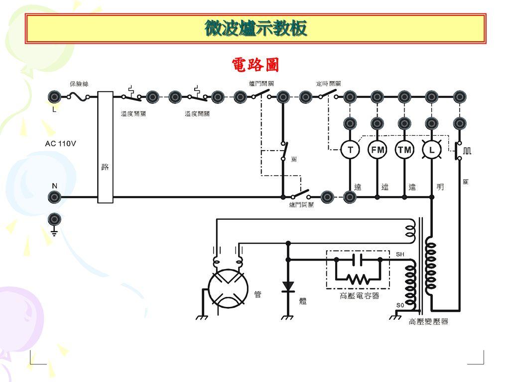 微波爐示教板 電路圖