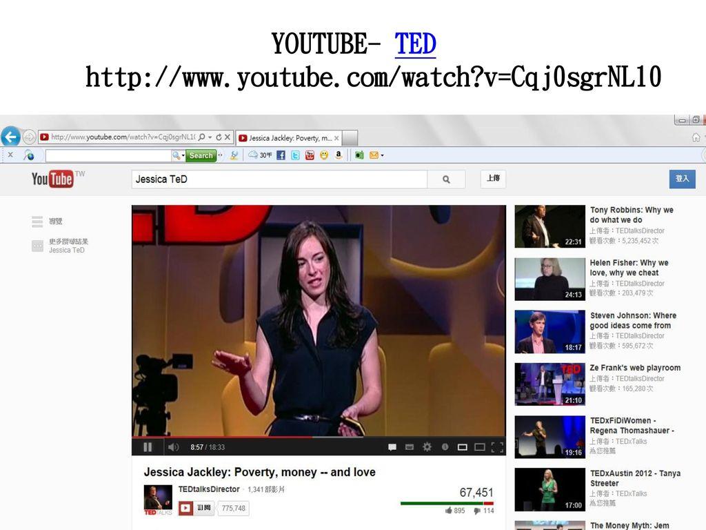 YOUTUBE- TED http://www.youtube.com/watch v=Cqj0sgrNL10