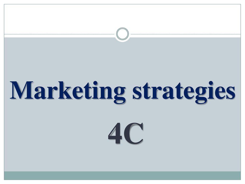 Marketing strategies 4C