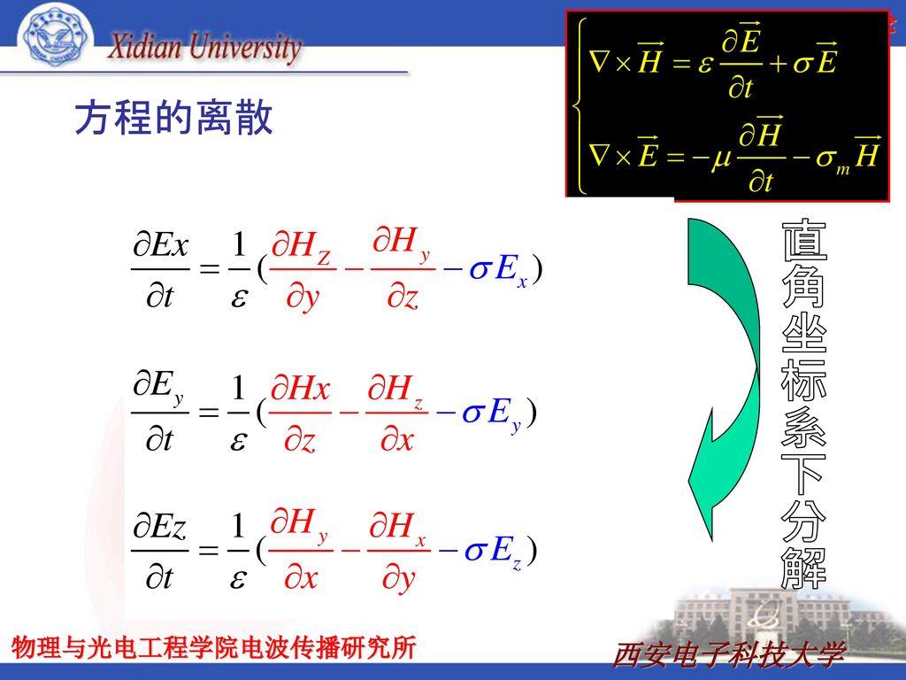 方程的离散 直角坐标系下分解