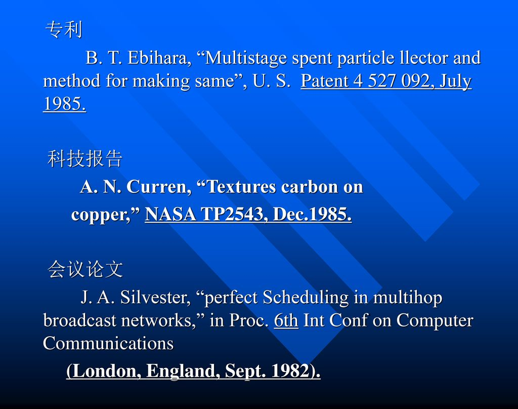 A. N. Curren, Textures carbon on copper, NASA TP2543, Dec 会议论文
