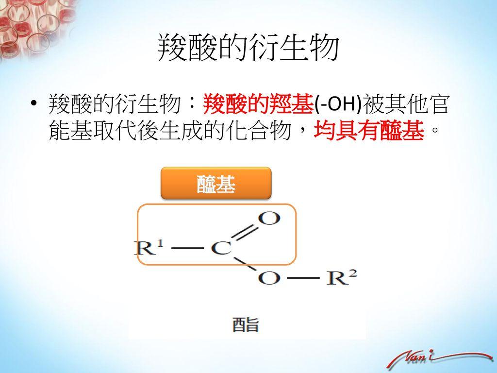 烴類 乙二酸 最簡單的二羧酸俗稱草酸,是二元酸, H2C2O4 或(COOH)2 以草酸氫鉀(HOOC-COOK)存於植物中,如大黃。