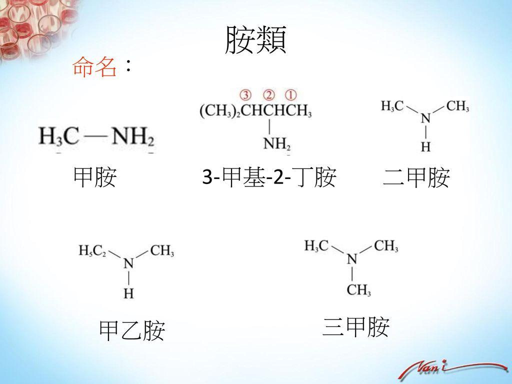 酯類 + → 製備與命名: A羧酸與B醇類在少量濃硫酸的催化下,共熱進行酯化反應產生A酸B酯和水,產生的水是由酸的OH與醇的H所形成。 乙酸