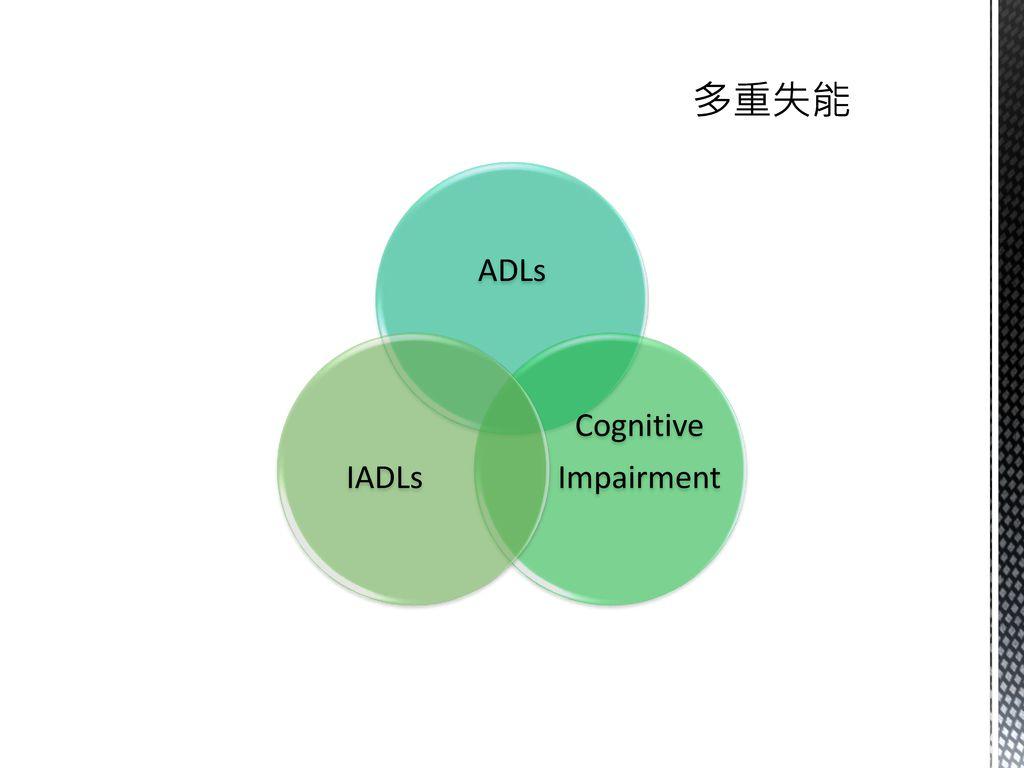 多重失能 ADLs Cognitive Impairment IADLs