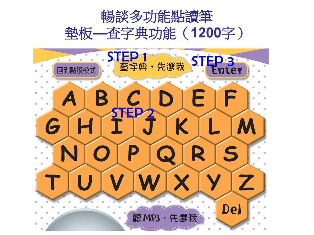 暢談多功能點讀筆 墊板—查字典功能(1200字)
