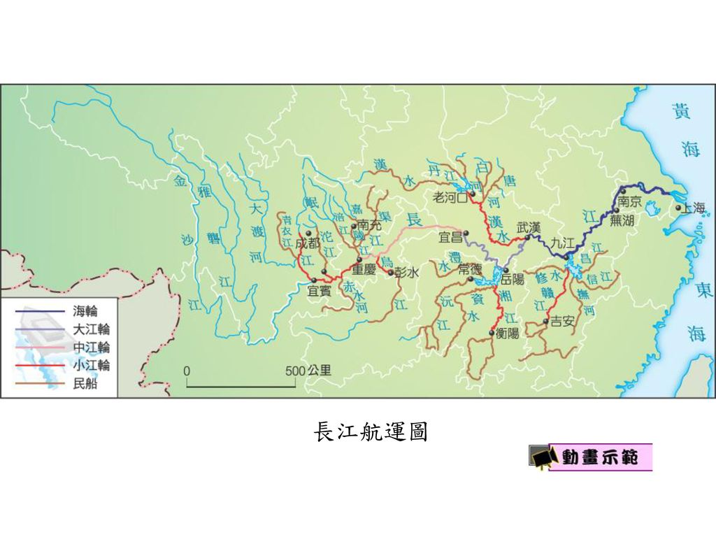 長江航運圖