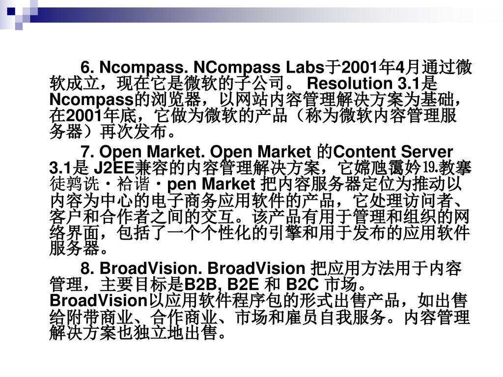 6. Ncompass. NCompass Labs于2001年4月通过微软成立,现在它是微软的子公司。 Resolution 3