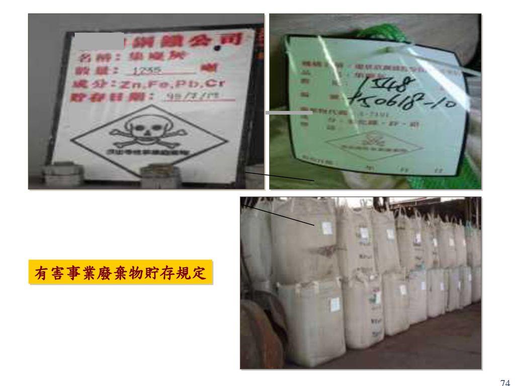 有害事業廢棄物貯存規定