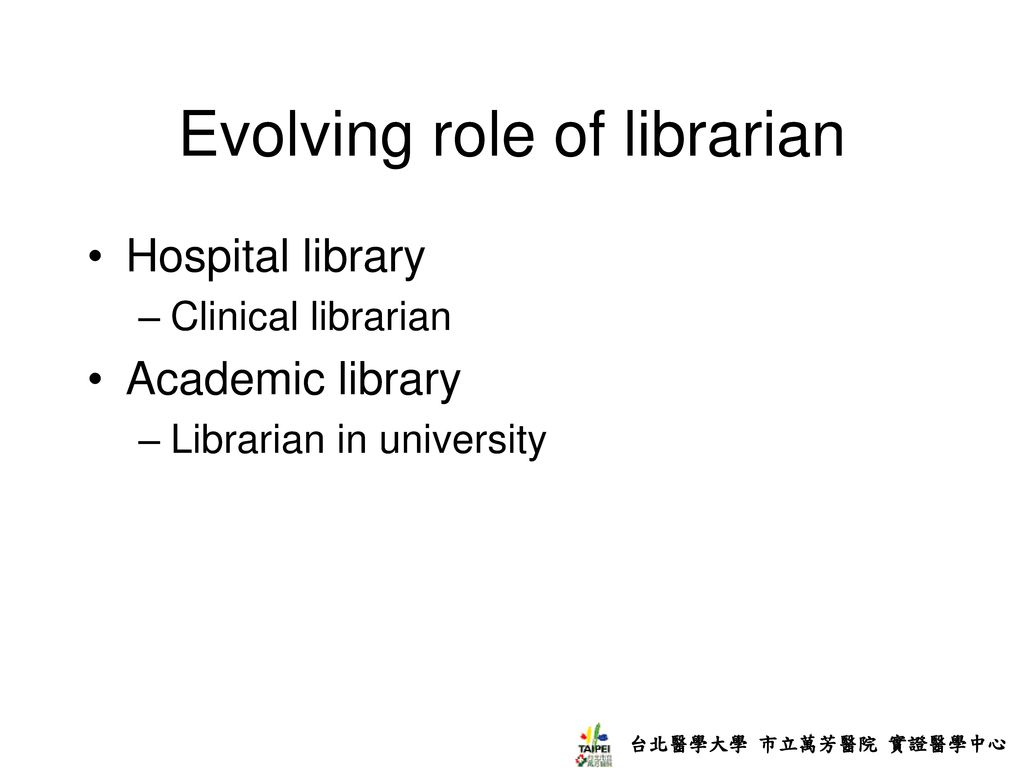 Evolving role of librarian