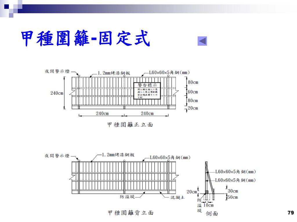 甲種圍籬-固定式