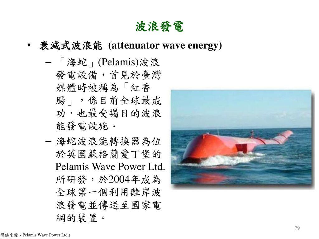 波浪發電 衰減式波浪能 (attenuator wave energy)